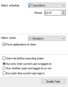 برنامج shotdown ايقاف تشغيل الحاسوب عند و قت معين