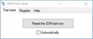 واجهة اداة trial reest في تحميل وتفعيل برنامج internet download manger
