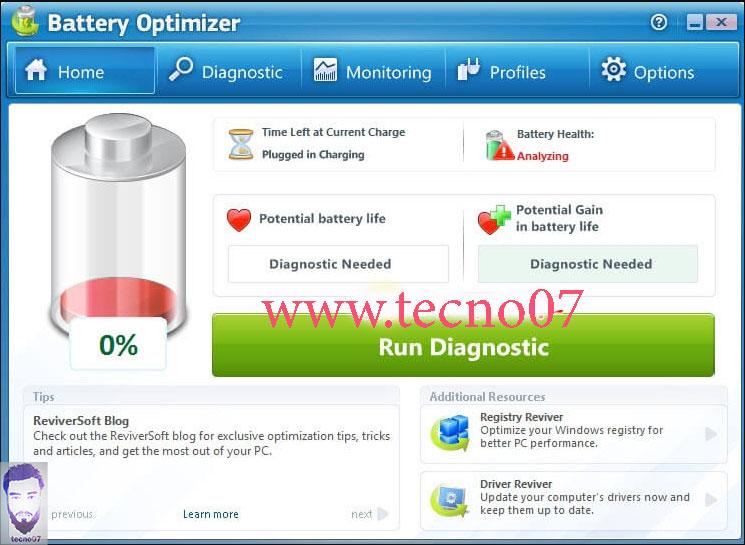 برنامج Battery Optimizer لمعرفة حالة البطارية
