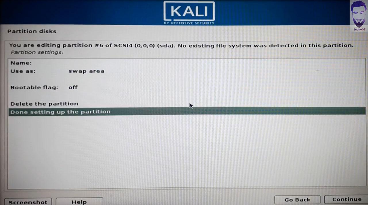 تثبيت نظام الكالي لينكس خطوات التثبيت