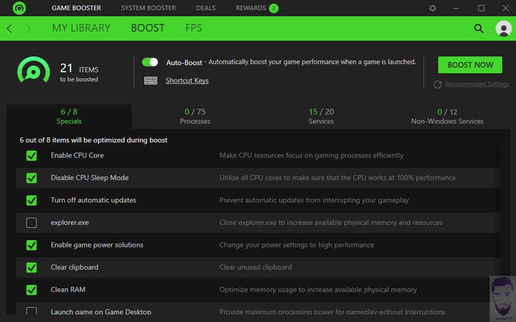 برنامج Game Booster في تشغيل الالعاب القوية على الاجهزة الضعيفة
