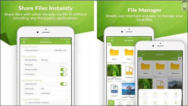 نقل الملفات من الأيفون بأستخدام FSharing File Manager Explorer
